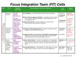 focus integration team fit cells1