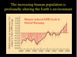 the increasing human population is profoundly altering the earth s environment