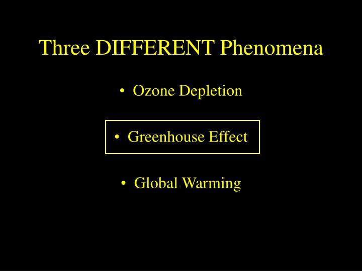 Three DIFFERENT Phenomena