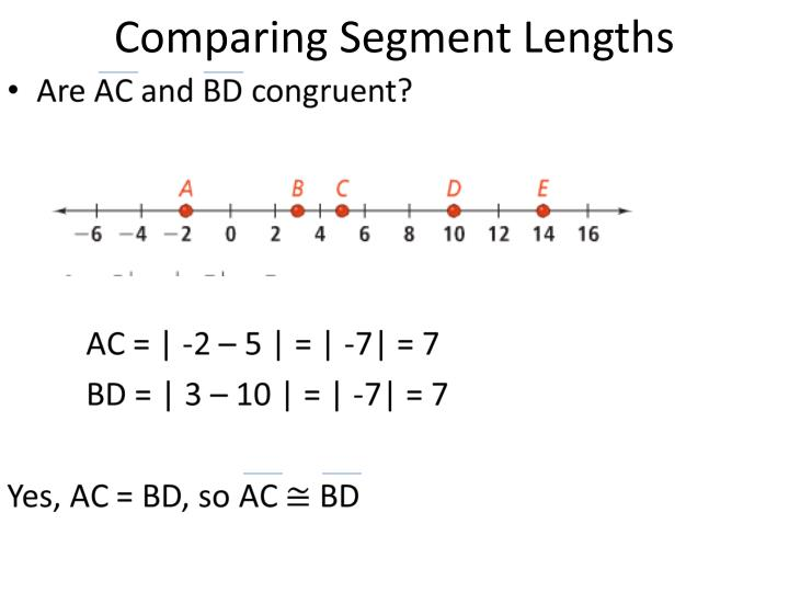 Comparing Segment Lengths