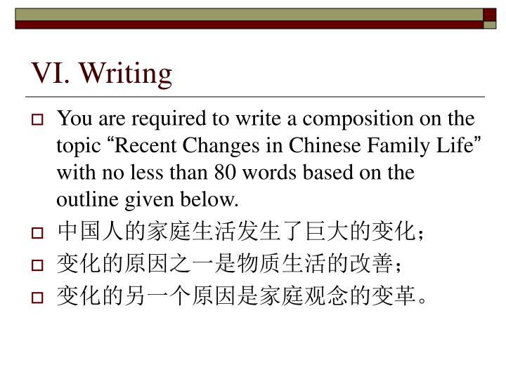 VI. Writing