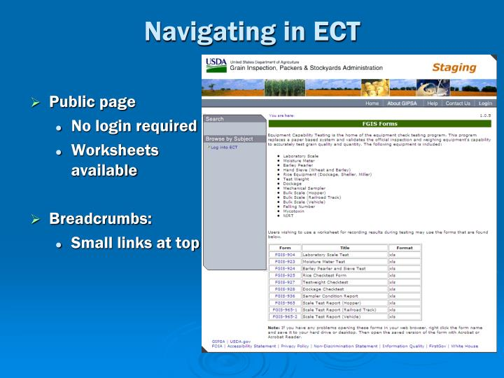 Navigating in ECT