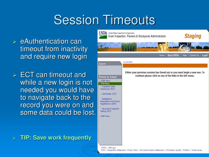 Session Timeouts