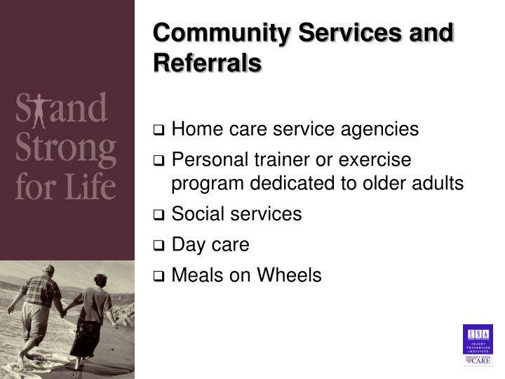 Community Services and Referrals