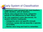 early system of classification1
