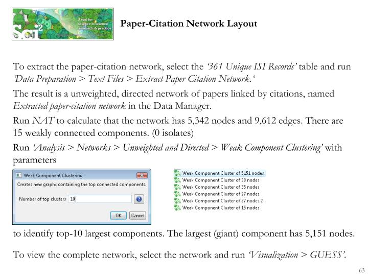 To extract the paper-citation network, select the
