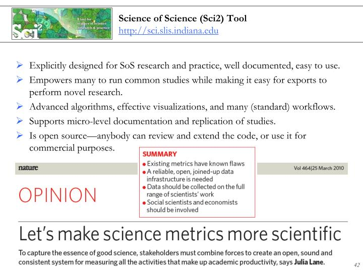 Science of Science (Sci2) Tool