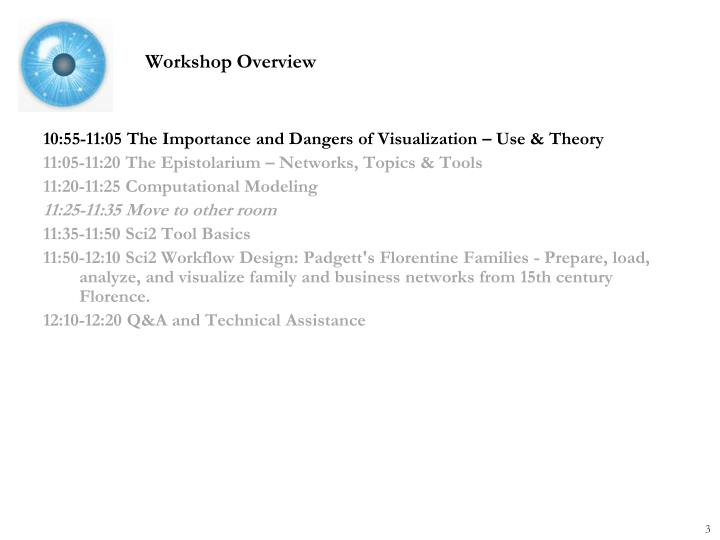 10:55-11:05 The Importance and Dangers of Visualization – Use & Theory