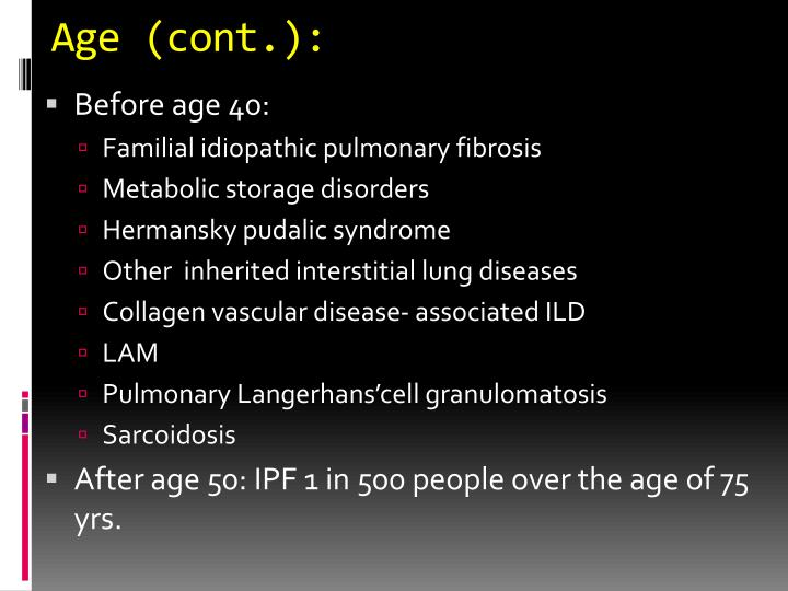 Age (cont.):