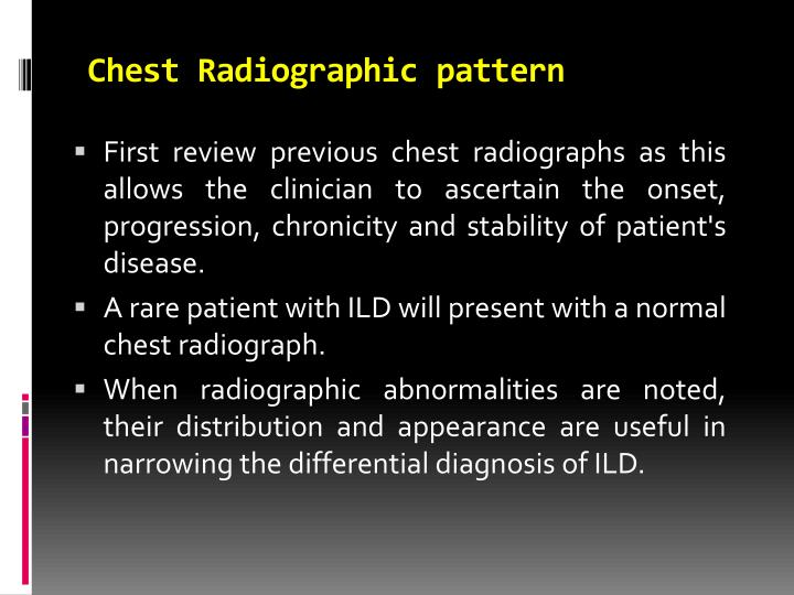 Chest Radiographic pattern