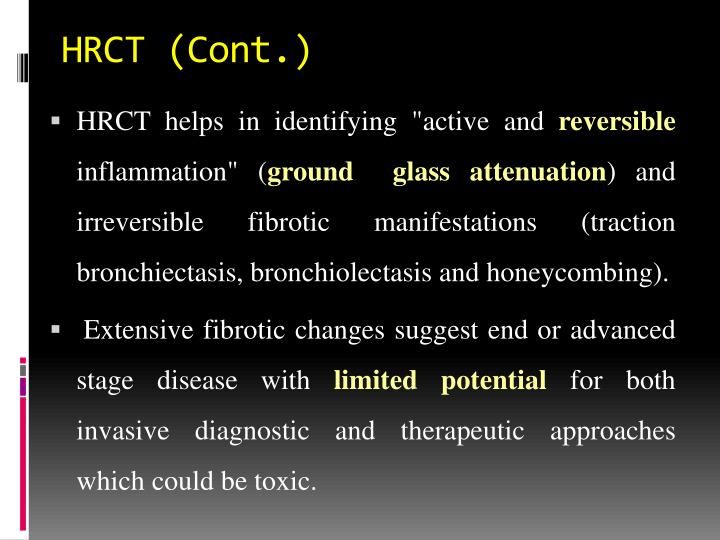 HRCT (Cont.)