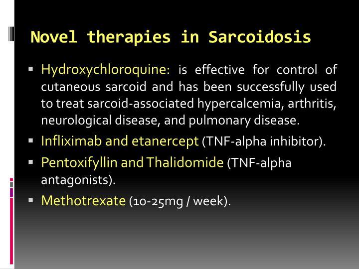 Novel therapies in Sarcoidosis