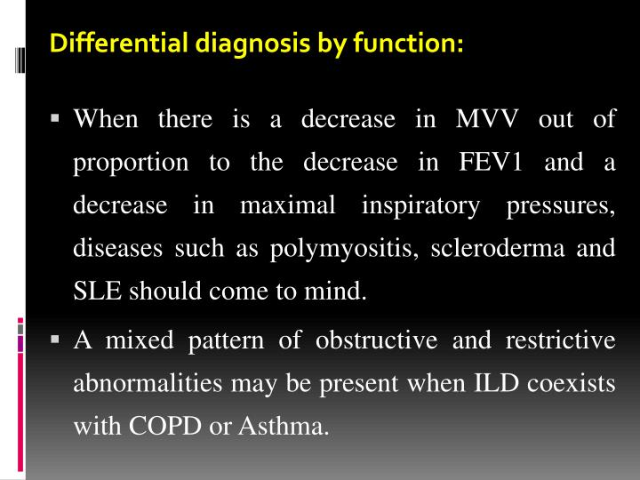 Differential diagnosis by function