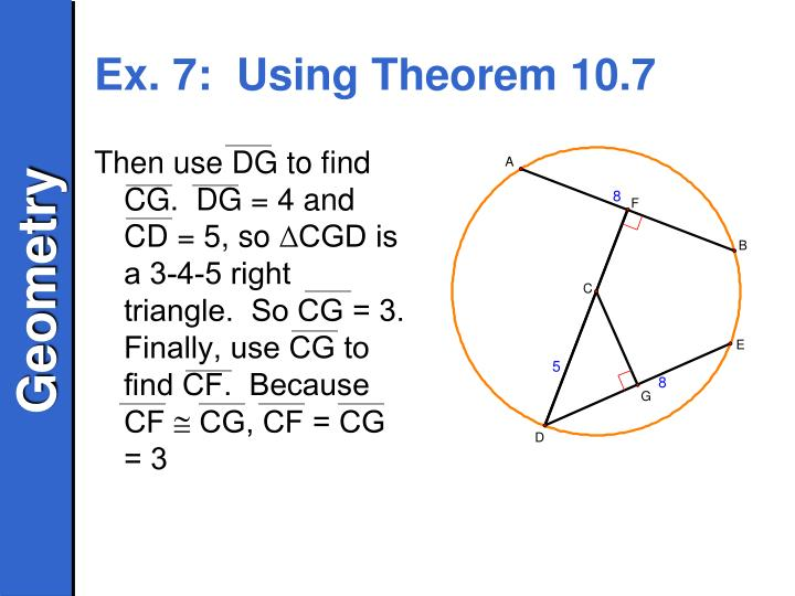 Ex. 7:  Using Theorem 10.7