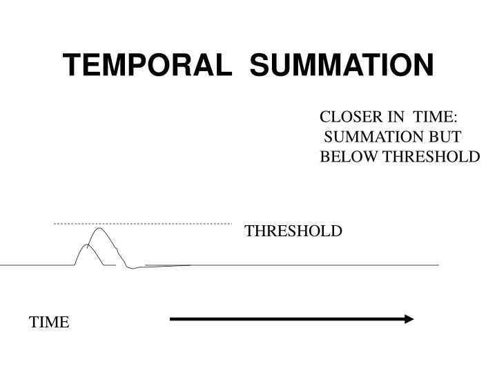 TEMPORAL  SUMMATION