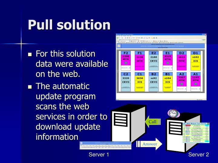 Pull solution