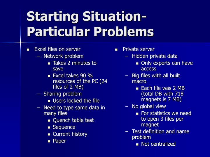 Excel files on server