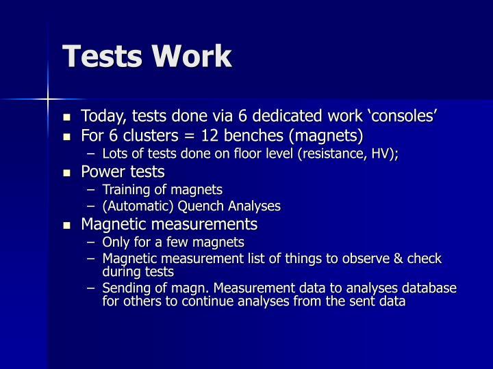 Tests Work
