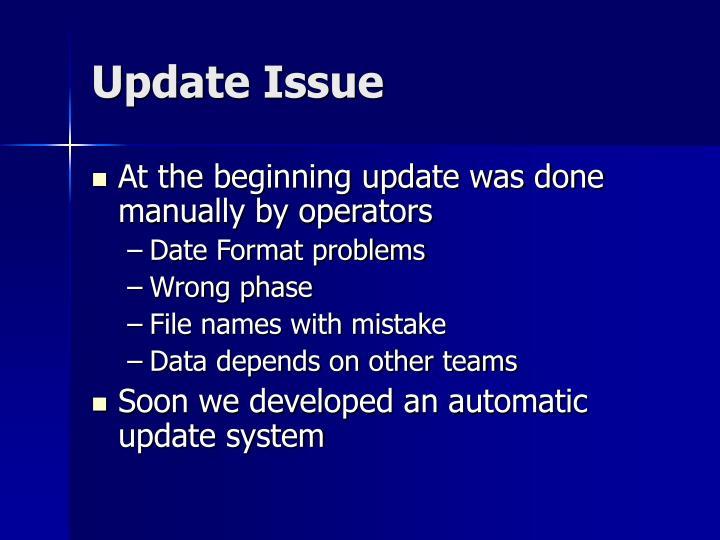 Update Issue
