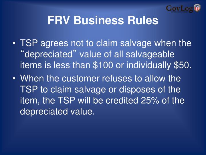 FRV Business Rules