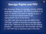 salvage rights and frv
