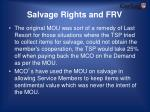salvage rights and frv1