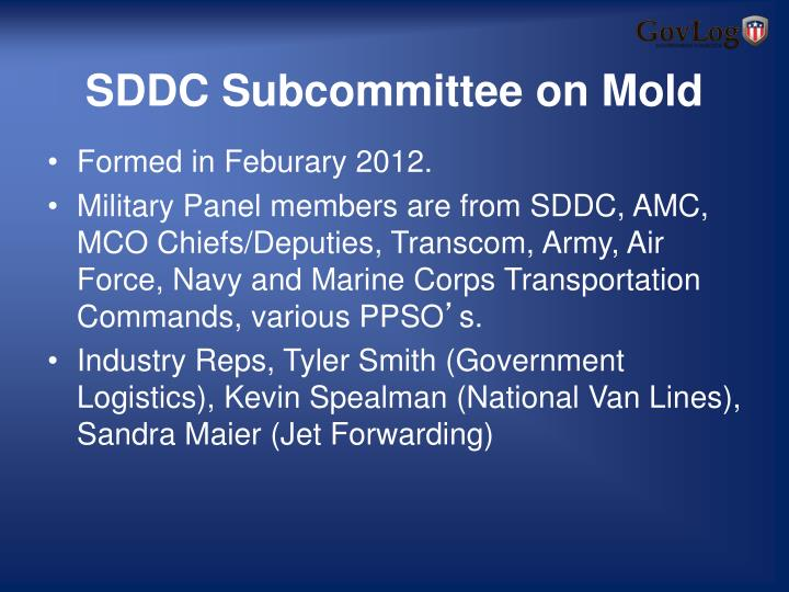 SDDC Subcommittee on Mold