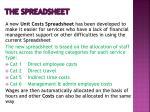 the spreadsheet