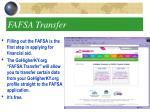 fafsa transfer