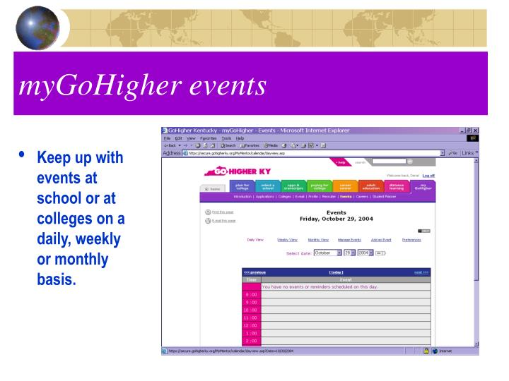 myGoHigher events
