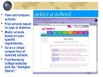 select a school