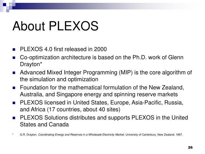 About PLEXOS