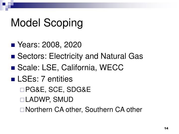 Model Scoping