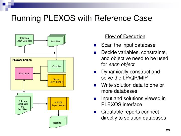 Running PLEXOS with Reference Case