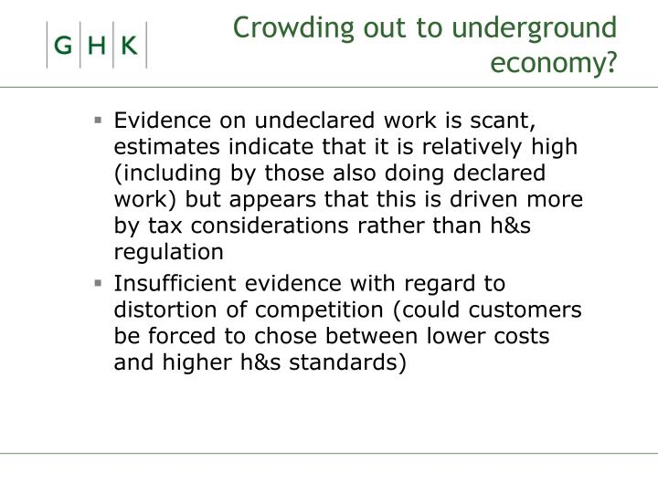 Crowding out to underground economy?