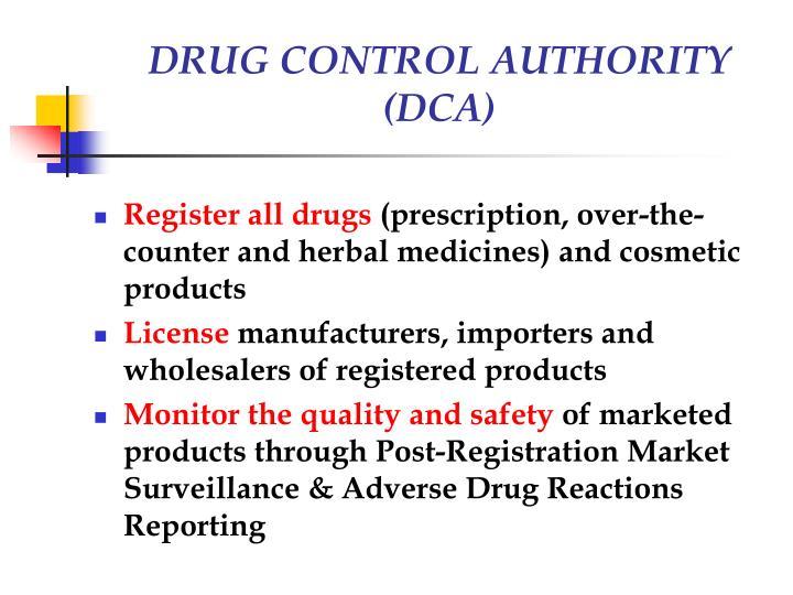 DRUG CONTROL AUTHORITY