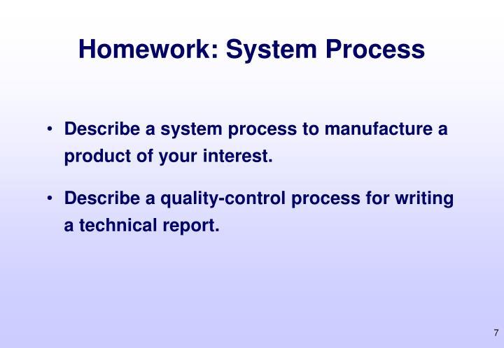 Homework: System Process
