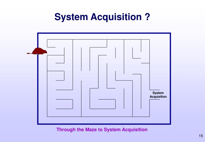 System Acquisition ?