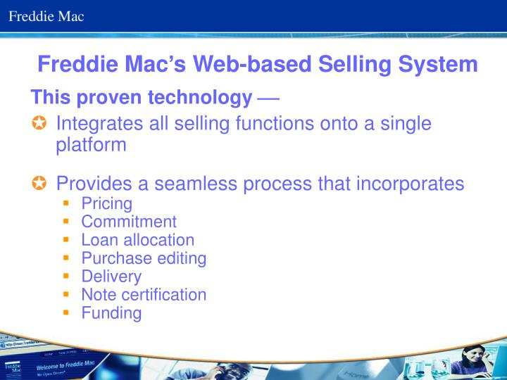 Freddie Mac's Web-based Selling System