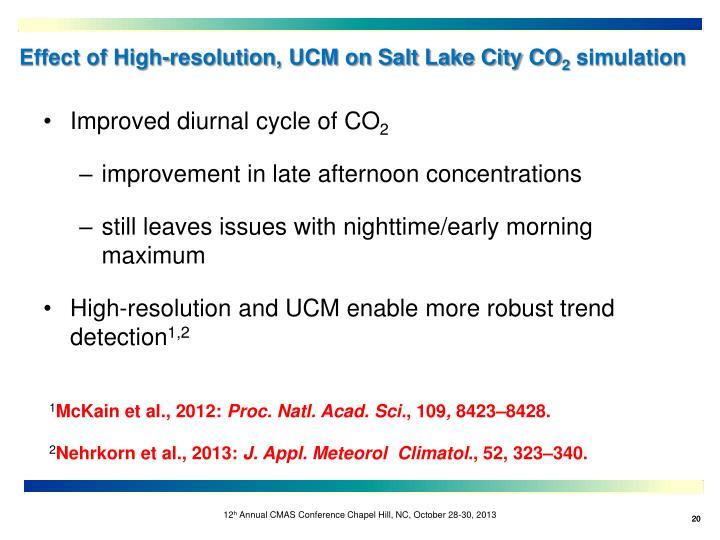 Effect of High-resolution, UCM on Salt Lake City CO