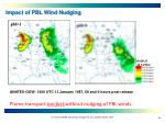 impact of pbl wind nudging
