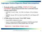 lagrangian particle dispersion model intercomparison