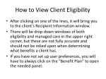 how to view client eligibility2