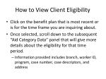how to view client eligibility7