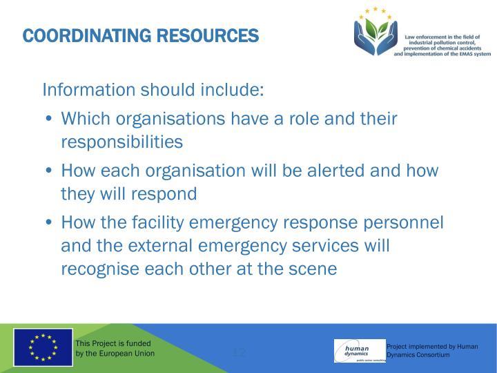 Coordinating Resources