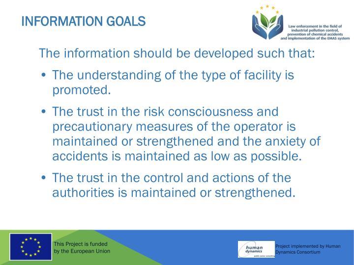 Information Goals