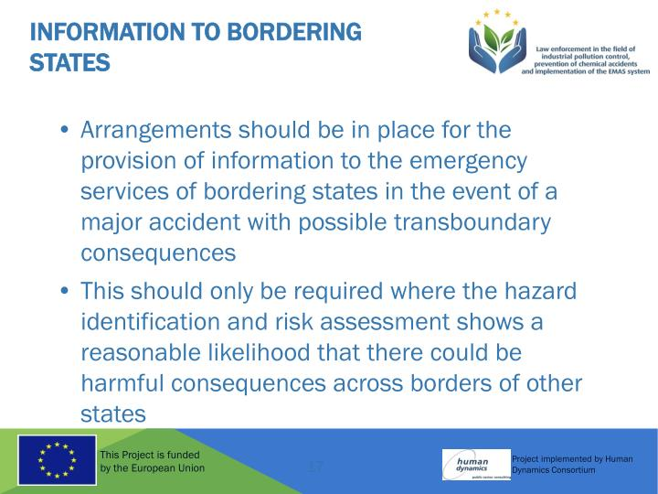 Information to Bordering States
