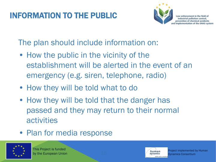 Information to the Public