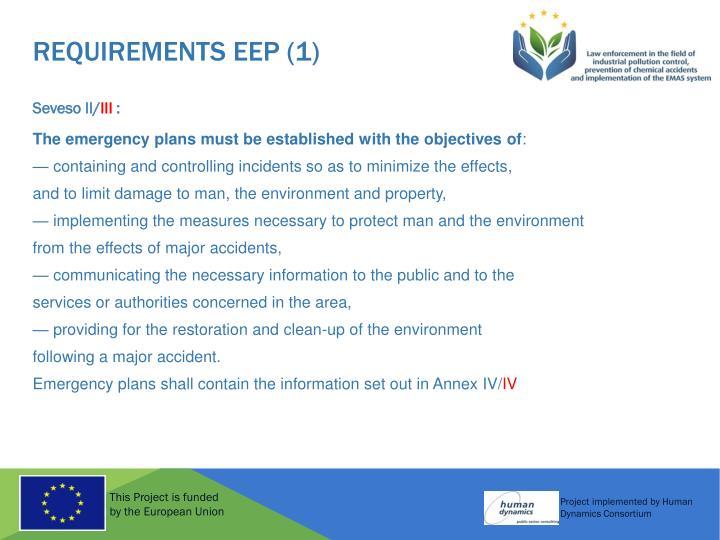 REQUIREMENTS EEP (1)