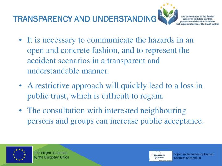Transparency and Understanding